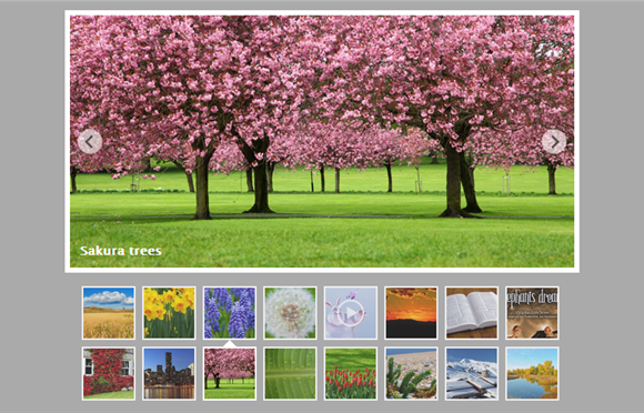 jQuery Slider with Multiple Rows Thumbnails |